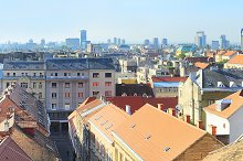 Panorama of Zagreb, Croatia