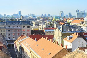 Panorama of Zagreb, Croatia