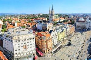 View of Ban Jelacic Square. Zagreb