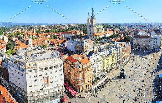 View of Ban Jelacic Square. Zagreb - Architecture