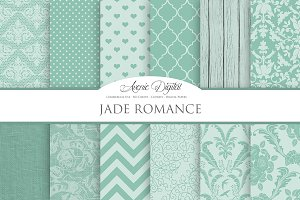 Jade Wedding Digital Papers