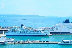 Seaport in Split, Croatia