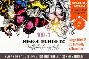 101 very bright butterfly mega bundl
