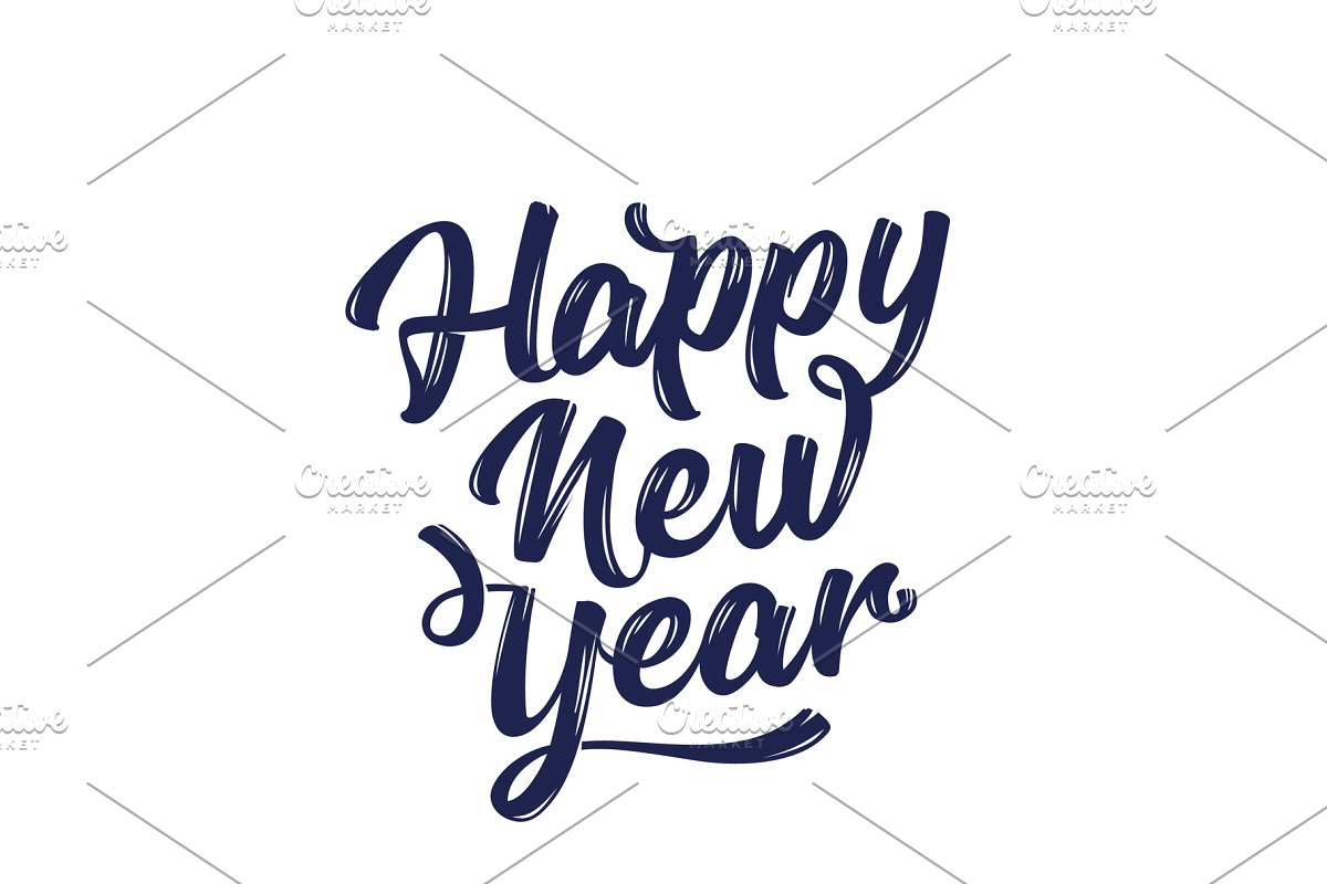 Happy New Year Lettering 85