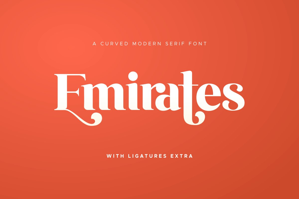 Emirates - Beautiful Curved Font in Display Fonts - product preview 24
