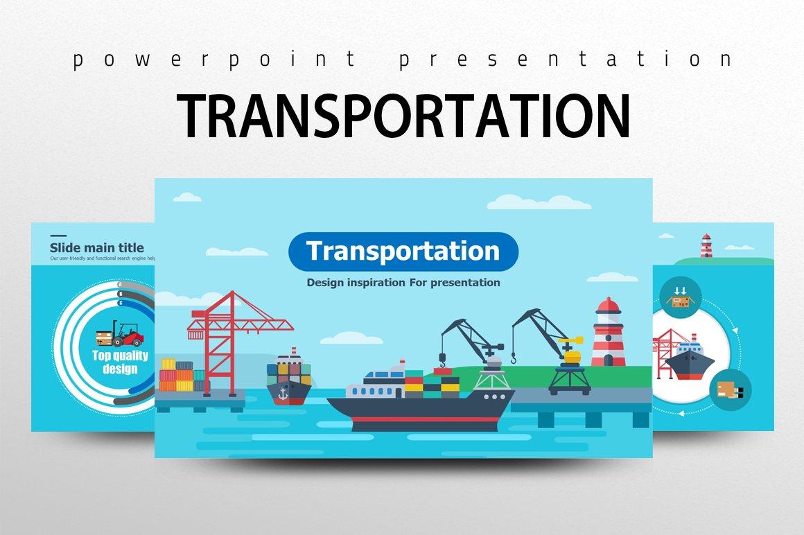 Transportation Powerpoint Template Creative Powerpoint Templates Creative Market