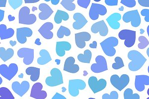 Blue heart on a white background