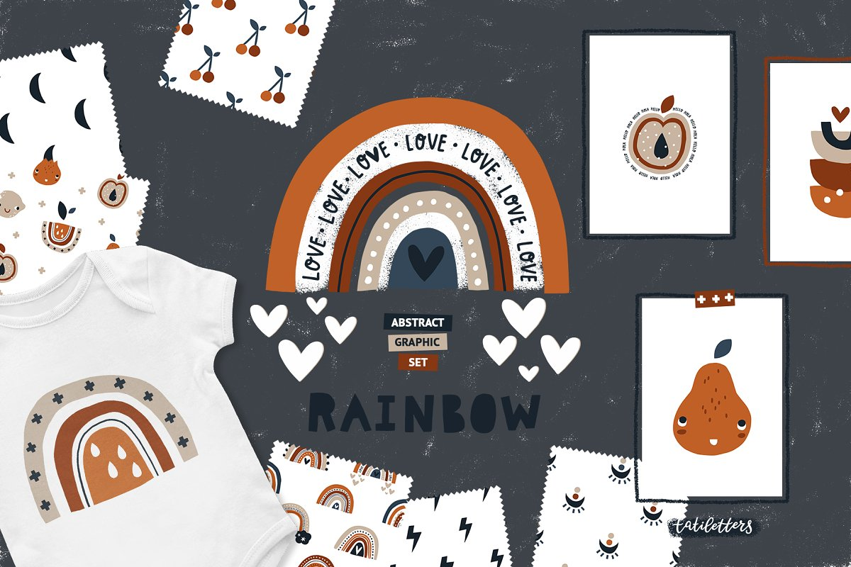 Bundle Baby animal Clipart & Pattern