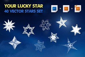 Your Lucky Star | Vector Stars Set