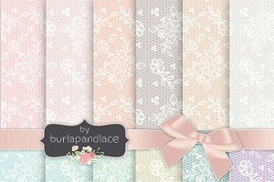 Lace pattern pastel color