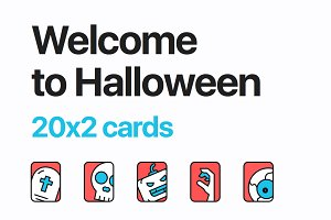 20 Creepy Vector Halloween pack