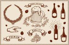 Beer,vine graphics