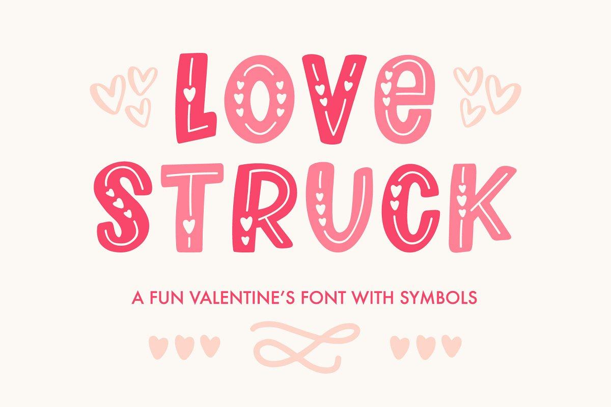 Love Struck, Valentine's Font