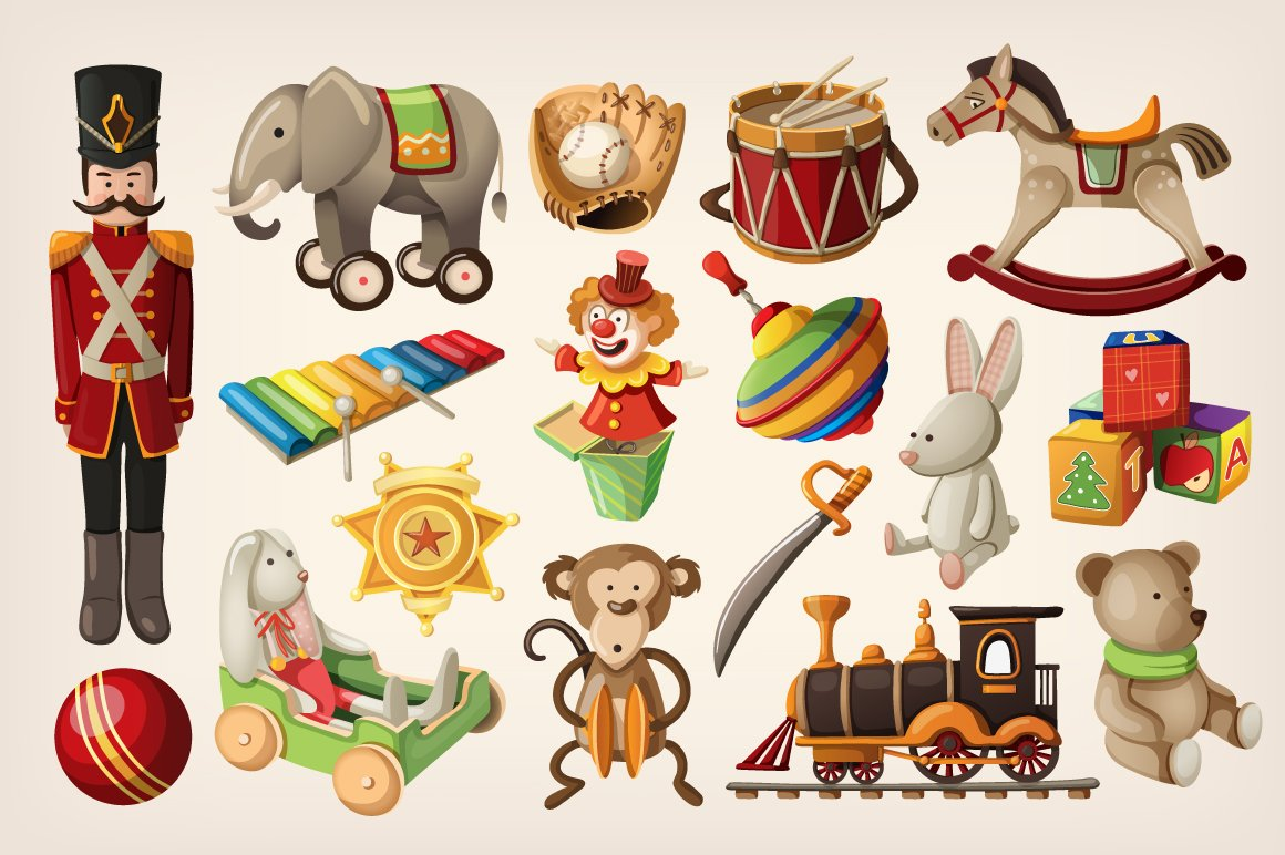 Retro toys ~ Illustrations ~ Creative Market
