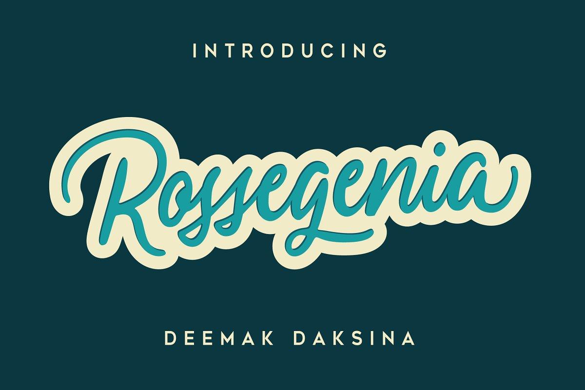 Rossegenia - Cursive Script Font