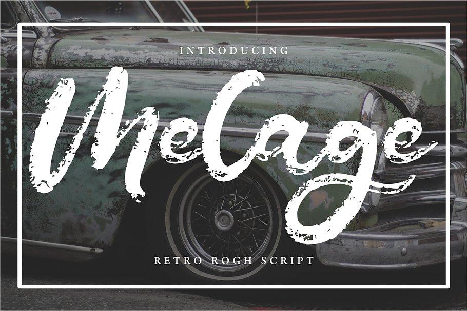 Melage | Retro Rogh Script Font