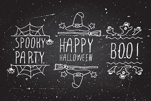 Halloween - typographical elements