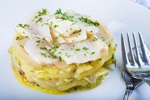 Oven baked cod with potatoes