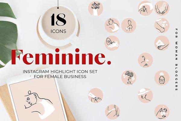 Female Instagram Stories Highlights