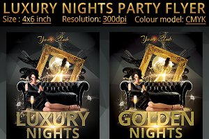 Luxury Nights Party Flyer