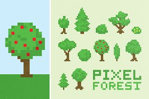 Pixel forest set