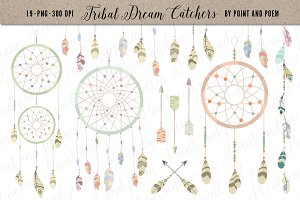 Tribal Clip art - Dream Catchers