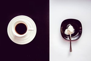 Black Coffee and Milk Powder