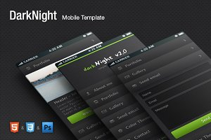 DarkNight - HTML Mobile Theme