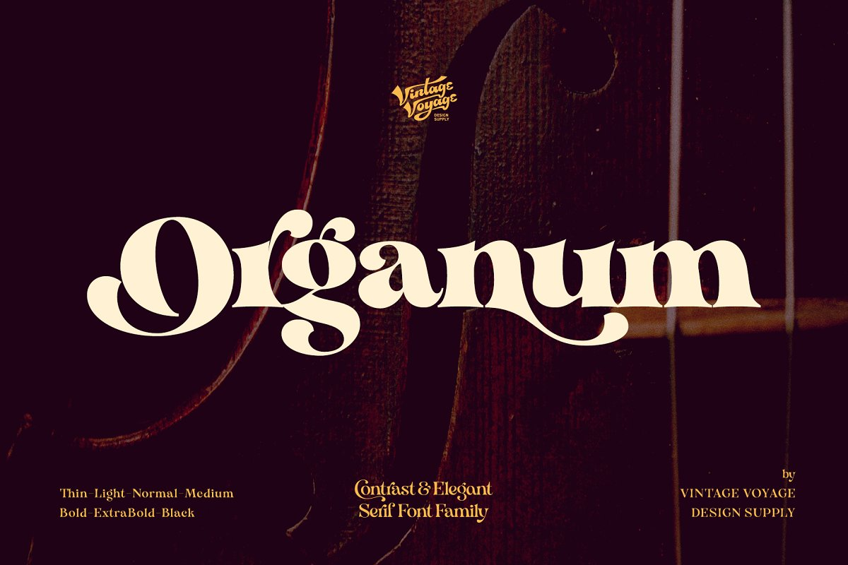 Organum • Font Family • 50% OFF