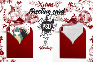 Christmas mockup greeting card