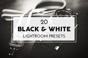 20 Black and White Lightroom Presets