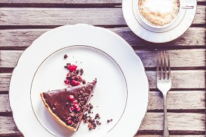 Coffee and Chocolate Tart