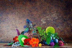 Autumn Leaves, Flowers, Berries