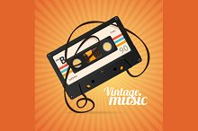 Vintage Music Background. Vector