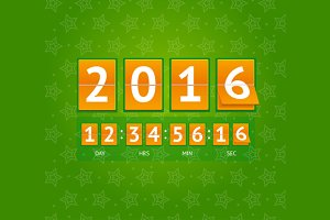 New Year Countdown. Vector