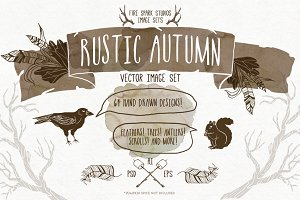50% Off Rustic Autumn Vectors