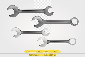 Steel spanners vector illustration