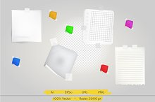 Note papers vector illustration