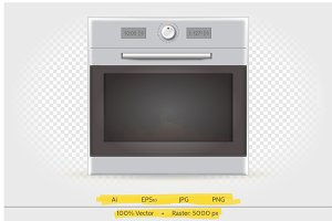 Electric stove vector illustration