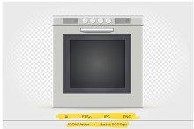 Gas oven vector illustration