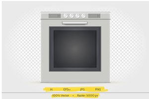 Gas oven vector illustration