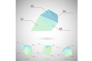 Infographics set with polygonal geom