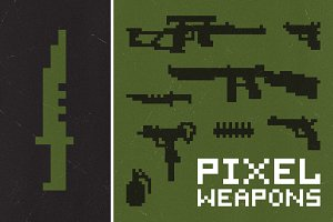 Pixel weapons set