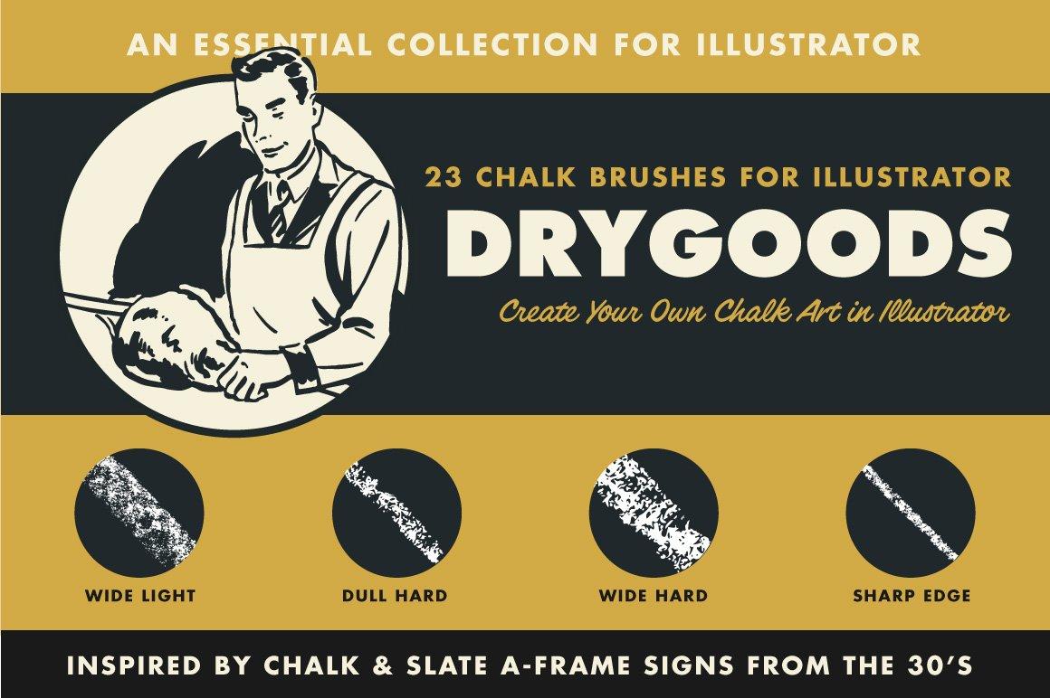 drygoods chalk brushes for illustrator 9