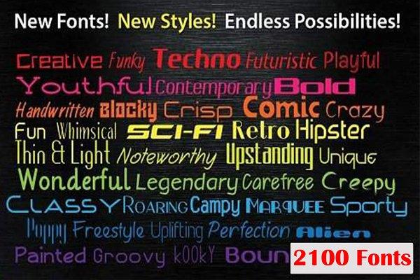 Fonts Bundle for Designers