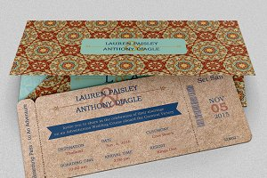 Adventure Boarding Pass Invitation