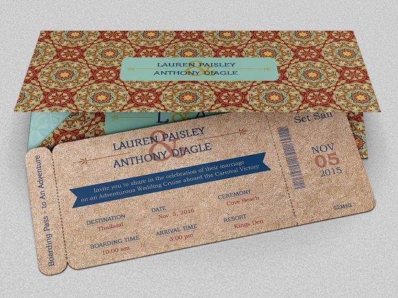 Boarding Pass Wedding Invitations Template: Adventure Boarding Pass Invitation