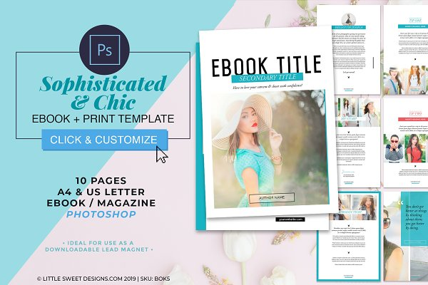 eBook Template Photoshop