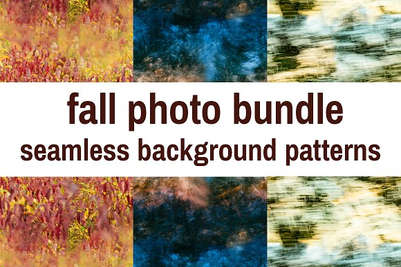 Seamless Fall Photos in Patterns