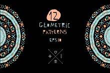 12 ethnic geometric patterns